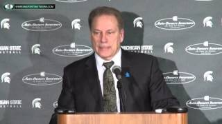 Tom Izzo Press Conference: Michigan State 54 Illinois 59