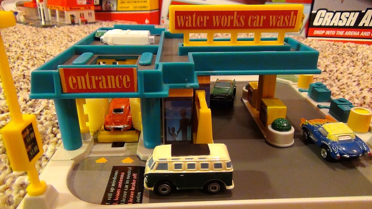 Micro Machines Water Works Car Wash Hiways Byways Playset By