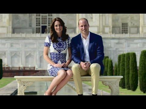 Prince William and Kate Middleton visit Taj Mahal in India