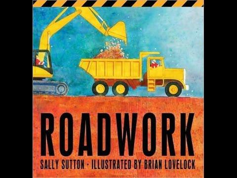 Roadwork Read Aloud Along Story Book for Children Kids