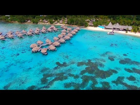Drone Footage of Paradise Island in HD (Moorea, French Polynesia)