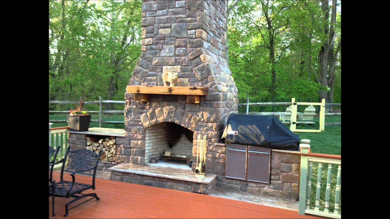 Outdoor Fireplace and Smoker - YouTube