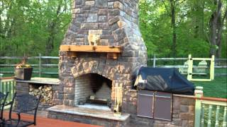 Outdoor Fireplace And Smoker