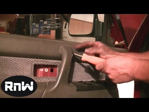 Door Panel, Window Regulator and Door Glass Removal Part 1