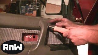 Door Panel, Window Regulator and Door Glass Removal Part 1