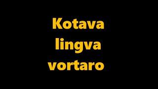 language kotava – esperantoava ravlemakam ( vortaro Kotava – Esperanto parto 1 )
