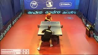Настольный теннис матч 201018 17  Самохотов Леонид Кривоноженков Артем 3-4 место