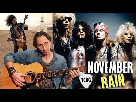 Como Tocar November Rain En Guitarra Acústica (Guns N´ Roses) | Tutorial TCDG