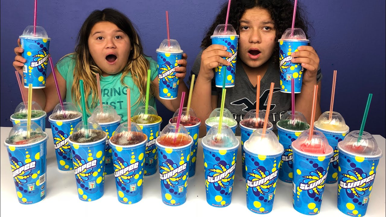 Slime Mary Izzy: Don't Choose The Wrong 7 Eleven Slurpee Slime Challenge