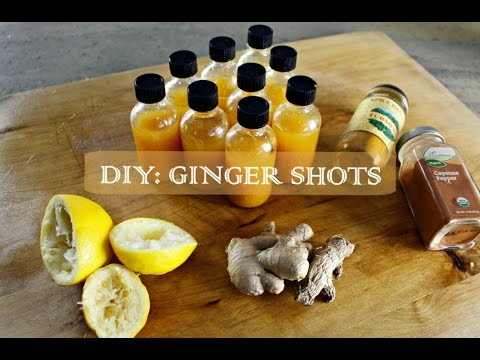 DIY GINGER SHOTS | SisterAv