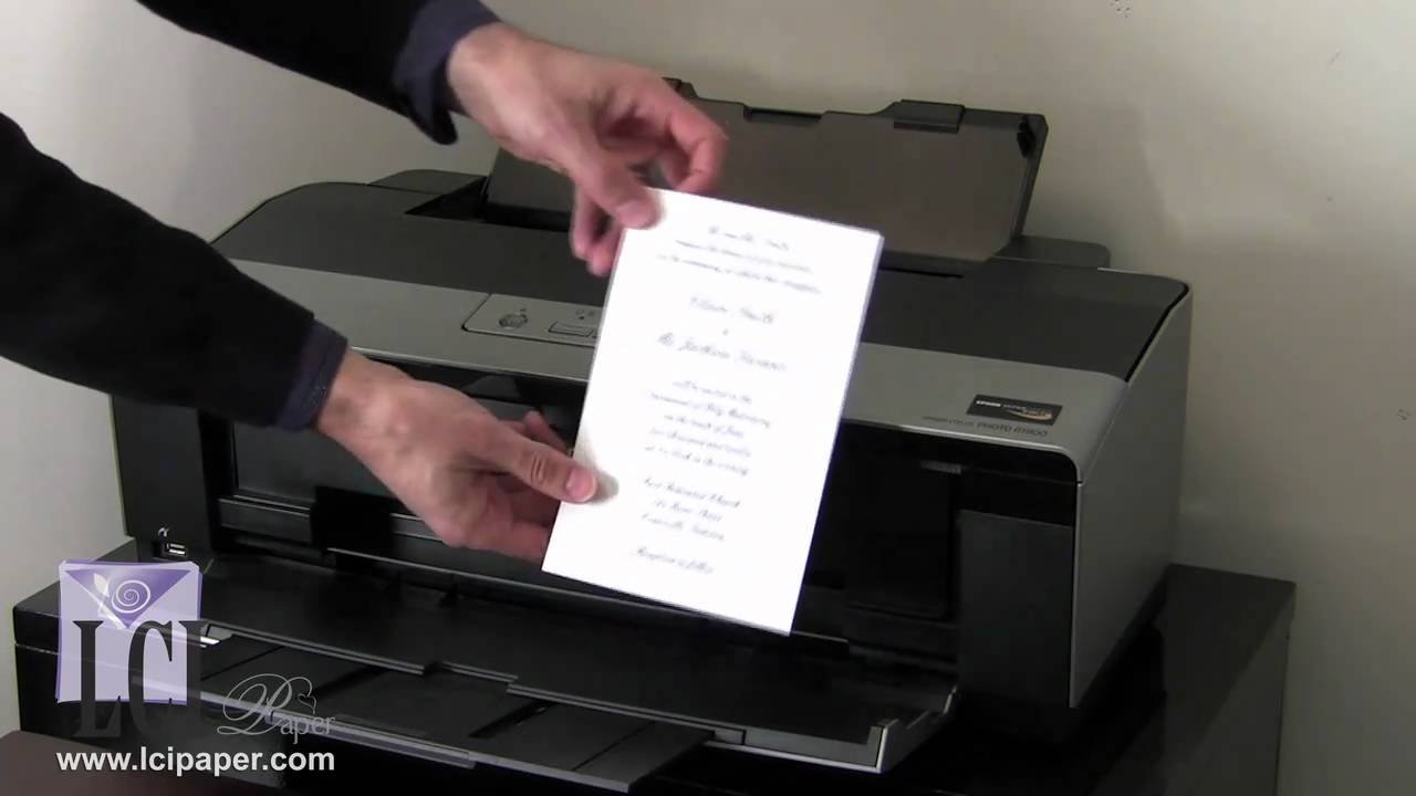 How to print your own invitations diy invitations made easy youtube m4hsunfo