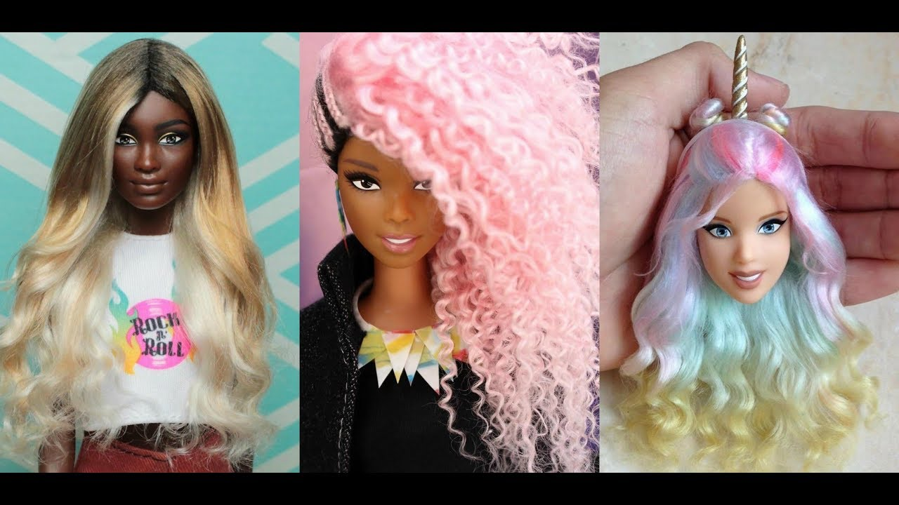 Barbie Hairstyle Barbie Hair Tutorial 💇 Hermosos Peinados ...