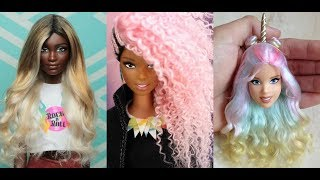 Barbie Hairstyle ✂ Barbie Hair Tutorial 💇 Hermosos Peinados Para Barbie 2018