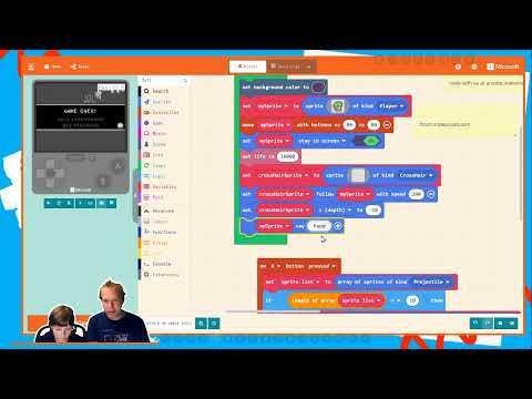 Maker Camp LIVE! Microsoft MakeCode Arcade