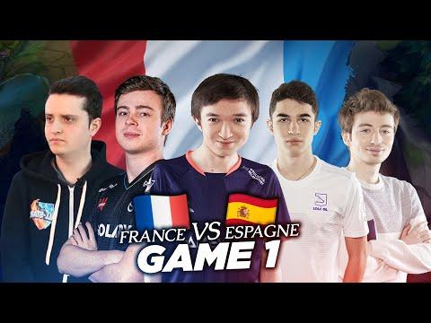 FRANCE VS ESPAGNE - GAME 1 | PAPY SOAZ LE ZINEDINE ZIDANE DE LOL