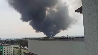 Pożar odpadów Sosnowiec 16.09.2020