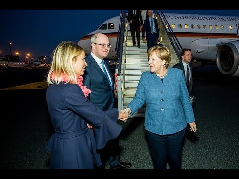 Tallinn Digital Summit - Arrivals at Lennart Meri Tallinn airport - Angela Merkel