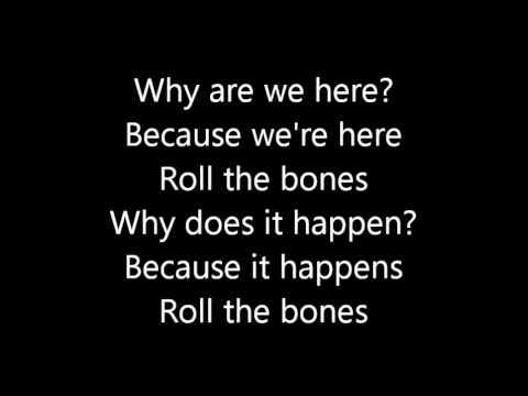 Rush-Roll The Bones (Lyrics)