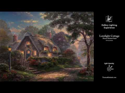 Lovelight Cottage from the Thomas Kinkade Vault | Gallery Lighting Experience
