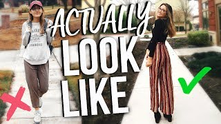 What I ACTUALLY Look Like In College | Makeup, Outfit, & Glasses!