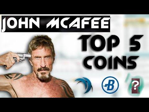 Top 5 Favorite Coins of John Mcafee