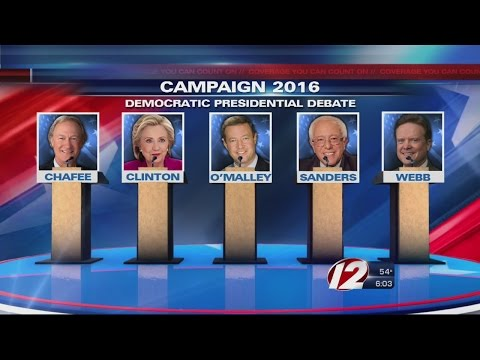 First debate among democratic candidates for president