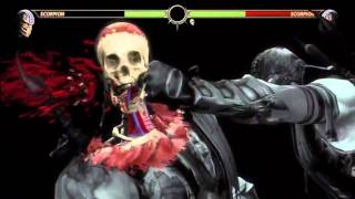 MK9 - Scorpion 59% Damage, 18 Hits X-RAY Combo - Mortal Kombat 9 (2011) MK Demo Gameplay