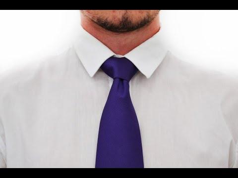Как завязывать галстук узел Винздор  How to tie a tie knot Windsor Knot