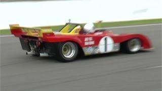Ferrari 312PB starting/race, roaring flat 12 at Spa!