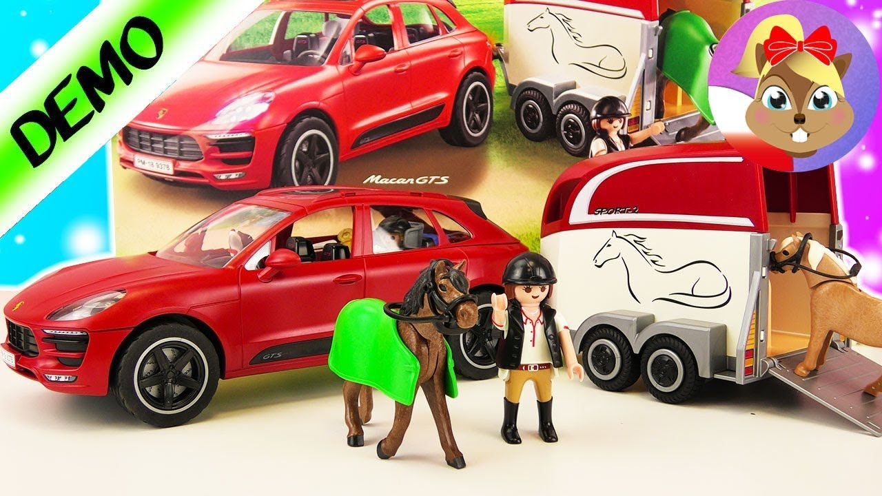 na turnieju konnym playmobil porsche macan gts z. Black Bedroom Furniture Sets. Home Design Ideas