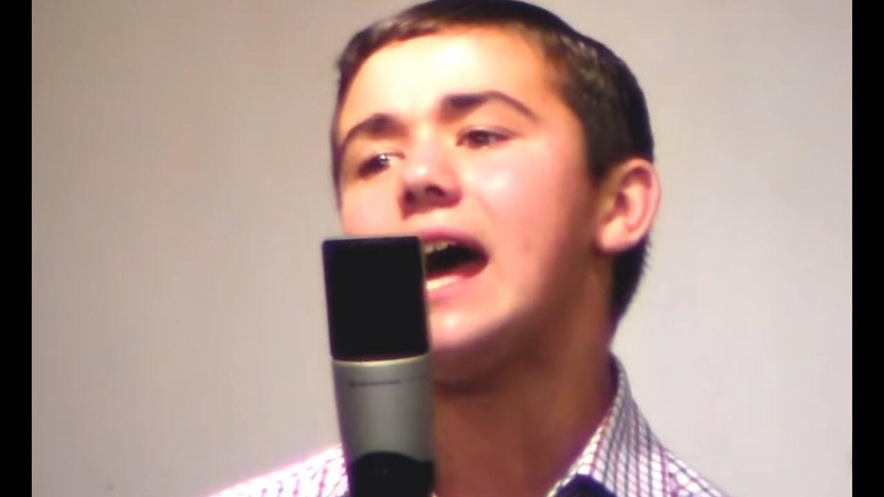 Incredible young man singing