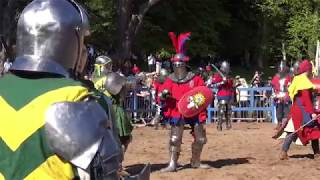 ENGLAND v AUSTRALIA 16 v 16 Full-contact Medieval combat at Scone Palace for IMCF 2018
