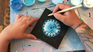How to Paint a Dot Mandala With a Vinyl Stencil 🕉