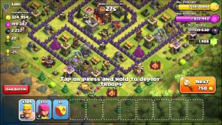 Clash of Clans: TH 9 Maxing Heroes and Farming Dark w/o heroes Ep #9