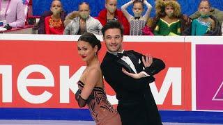 Елизавета Худайбердиева Егор Базин Ритм танец Танцы на льду Чемпионат России 2021