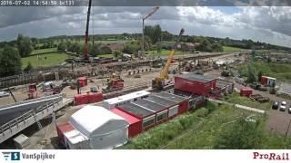 Time lapse plaatsing spoordek Nijkerk 1 - 4 juli 2016