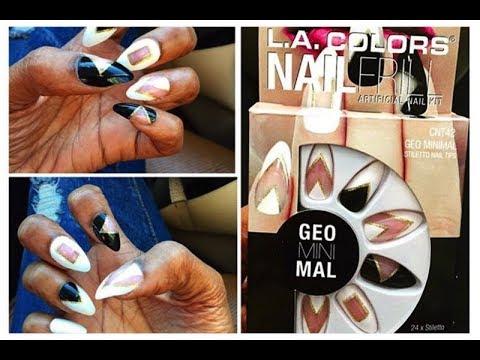 La Colors Geominimal Stiletto Artificial Nails Designer Nails