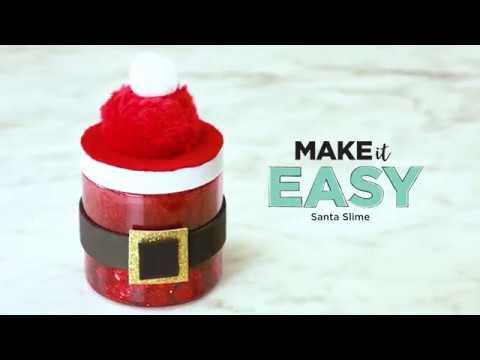 Michaels Christmas Crafts.Diy Santa Slime Christmas Crafts Michaels
