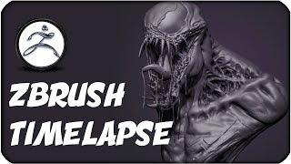 Venom - Zbrush Sculpt Timelapse - Sergio Hualde
