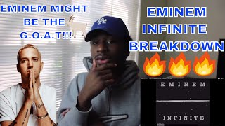 INFINITE - EMINEM (LYRIC BREAKDOWN)   YOUNG EMINEM IS REALLY THE GOAT !!!   REACTION