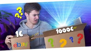 1€ vs 1000€ eBay MYSTERY BOX! 😱 (Ihr werdet niemals glauben was drin ist!!) *UNBOXING*