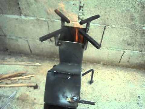 Cocina a le a o estufa cohete 2 youtube for Cocina economica a lena