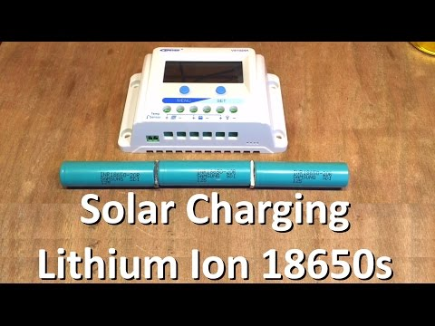 Solar Charging Lithium Ion 18650s - Part 1, The Plan - 12v Solar Shed