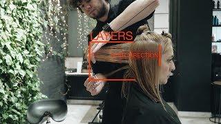how to cut medium length women's haircut