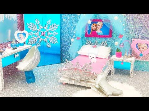 DIY Miniature Frozen Bedroom and Crafts