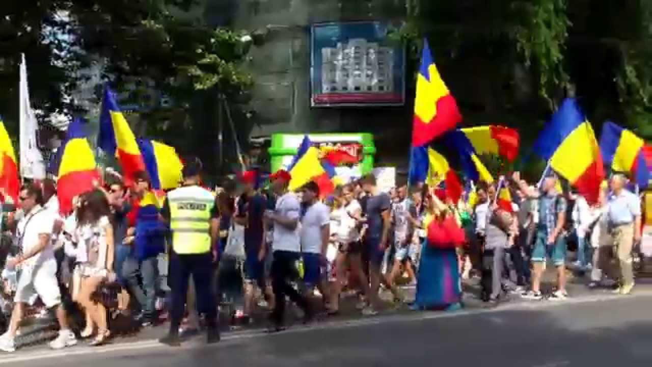 Marș unionist la #Chișinău pe un singur sens de circulație