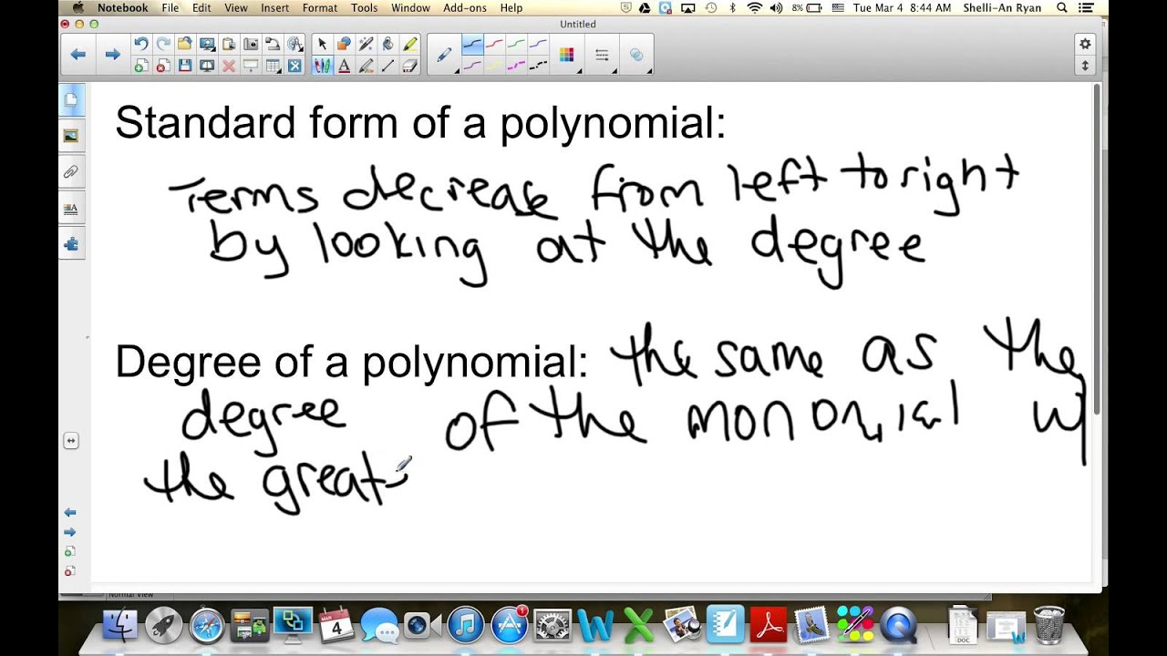 Algebra 1 Lesson 9 1 Adding And Subtracting Polynomials
