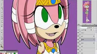 Amy in Tikal's outfit