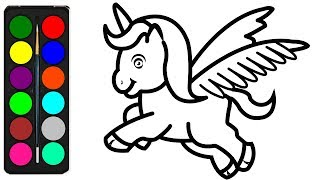 unicorn coloring easy pages draw drawing unicorns drawings colouring step colors printable children printables wings