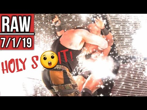 WWE RAW Starts Off With EXPLOSIVE Braun Strowman Segment & Ends W/ An AJ Styles TURN! WWE RAW 7/1/19